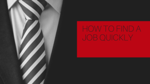 how to find a job quickly