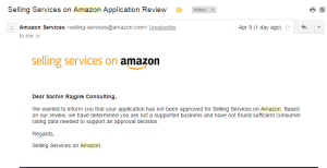 amazon home services denial email
